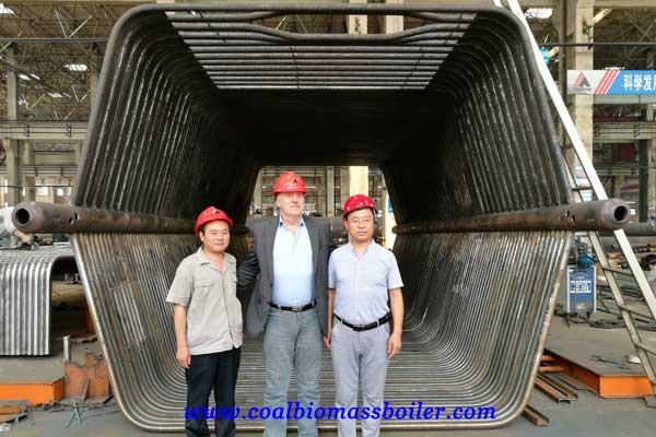 coal fired boiler customer from Egypt