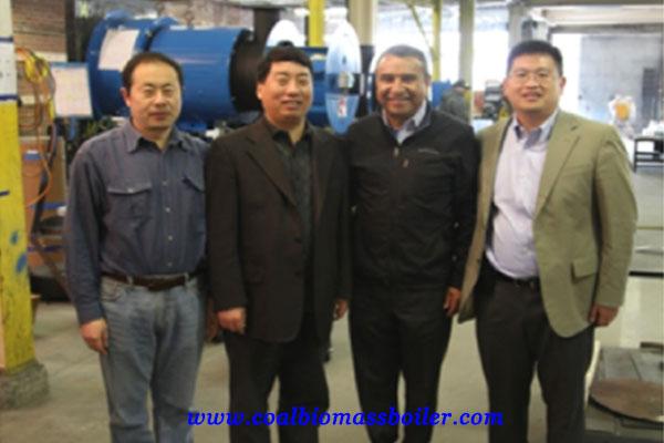 coal fired boiler customer from america
