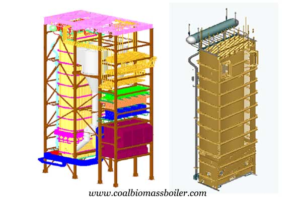 3D design of coal fired boilers