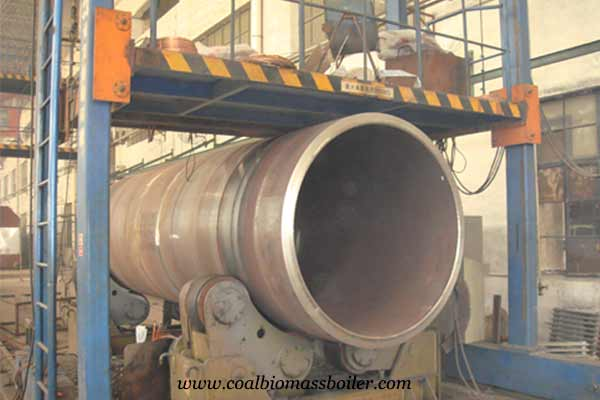CNC turning of coal fired boiler side taishan group factory