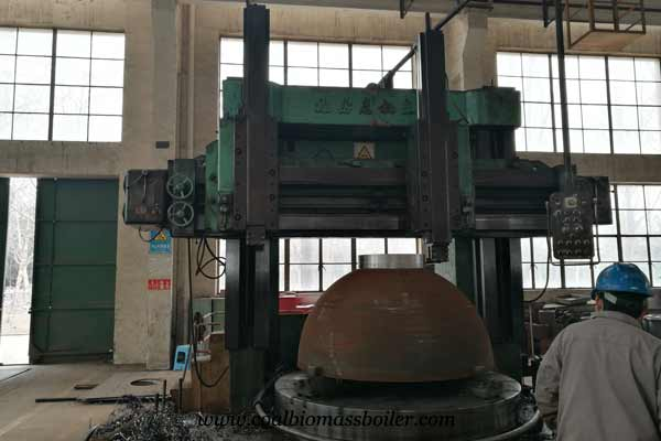 Double column vertical lathe for coal fired boiler