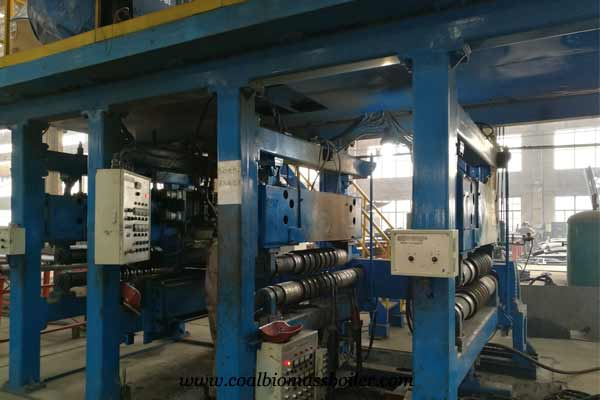 Membrane wall production line for biomass boiler