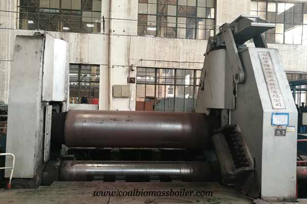 Three roll plate bending machine for biomass boiler
