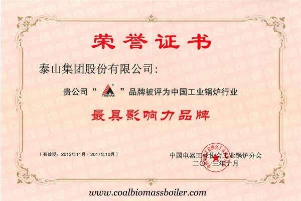 most influence coal fired boiler brand