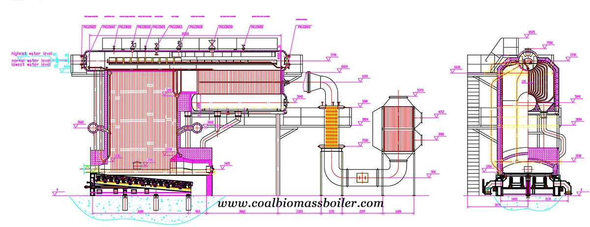 diagram of SZW Industrial Biomass Boiler