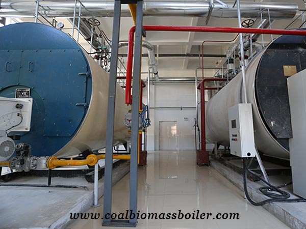 High efficiency gas fired boiler