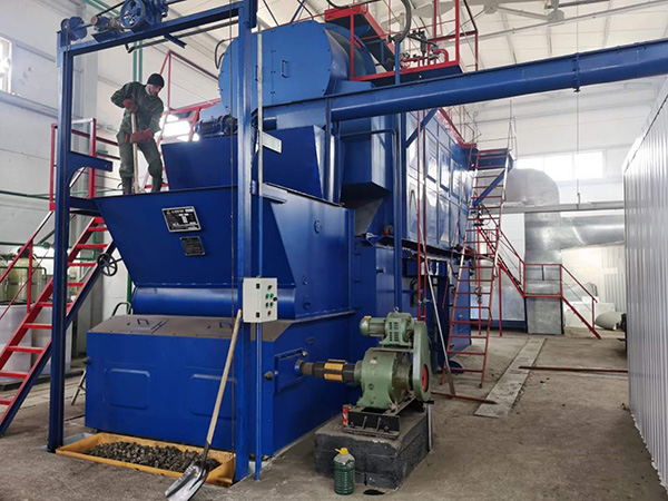 Sunflower Seed Hull Boiler Running in Kazakhstan